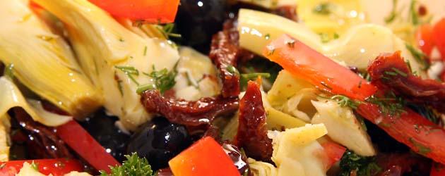 Artisjokker og oliven